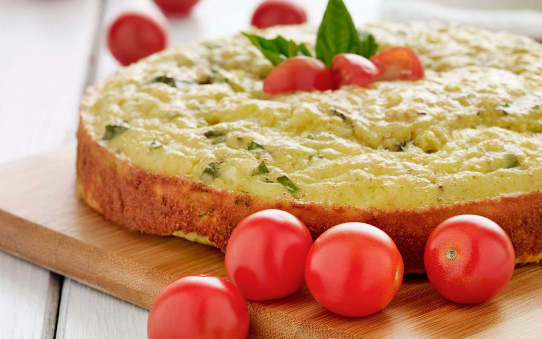 Grape Tomato and Cauliflower Cake