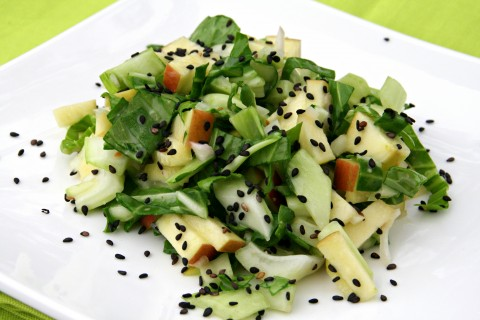 Bok Choy Salad with Fruit