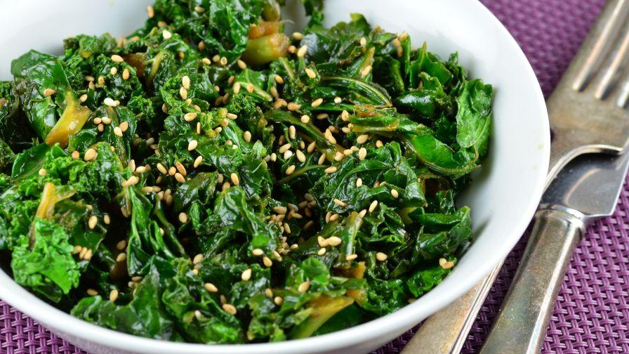 Mixed Kale Quick Stir Fry Saute