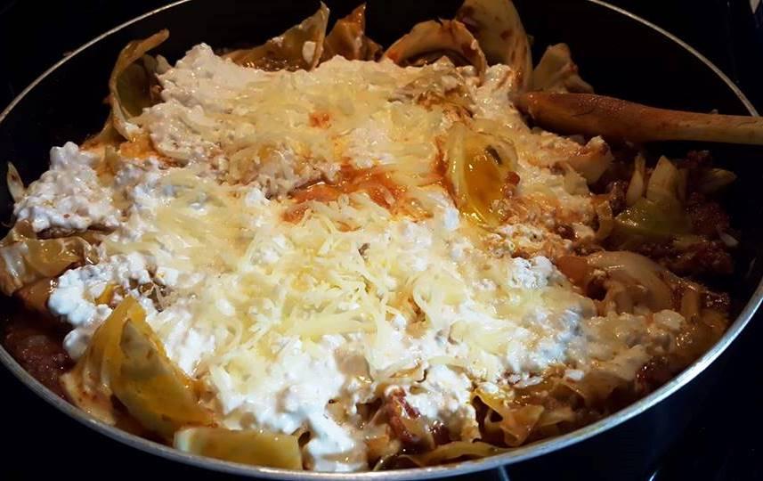 Skillet Cabbage Lasagna